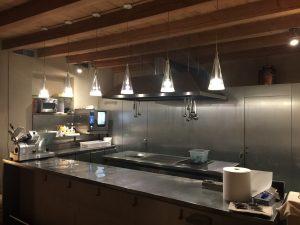 The open kitchen at Scrigno del Duomo in Trento