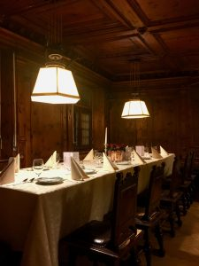 The dinner at Hotel Elephant in Bressanone with a tailored menu and wine selection