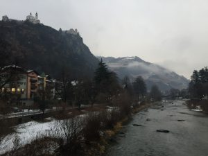 The Adige River running through Bolzano, Alto Adige