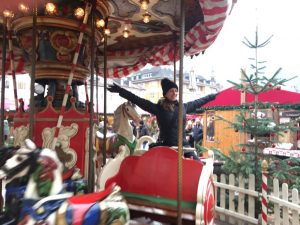 The merry-go-round at the Christmas Market in Vipiteno, North Italy