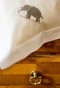 Room detail of Hotel Elephant in Trentino Alto Adige, North Italy